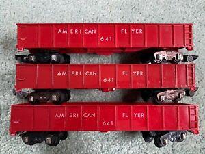 American Flyer 3 #641 AF Red Gondolas Painted & Unpainted versions link all step