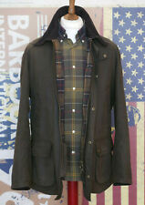£199 Mens Barbour Ashby olive green waxed jacket size L Large 40
