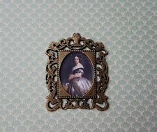PORTRAIT painting 1:12th scale dolls house picture edwardian victorian lady