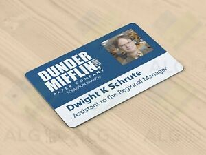 The Office (American) - Novelty / Prop Plastic ID Card Badge Jim / Pam / Dwight