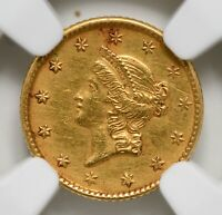 "1853 ""P"" Gold One Dollar Liberty Head NGC AU-Details Cleaned"