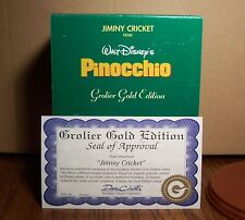 Grolier Christmas Ornament JIMINY CRICKET #984 Gold Edition MIB w COA Pinocchio