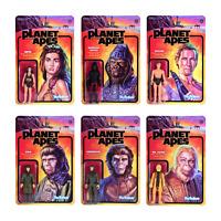 Planet Of The Apes Planet Der Affen 6 Figuren ReAction 3 3/4 Inch Figur Super7