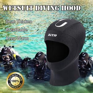 3mm Black Wetsuit Hood Stretch  Neoprene Cap Diving Surfing Kayaking Scuba Hat