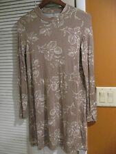 Women's O'Neill Floral Print Women's Dress S Smokey Tan Jersey Knit