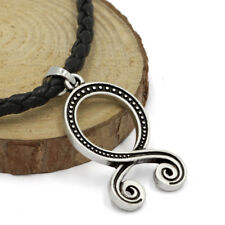 Norse Viking Necklace Celtic Amulet Odin Pendant Leather Cord Mens Jewelry 23""