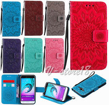 3D flower Slim Card slot wallet Pouch leather stand cover skin case for phones
