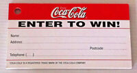 Rare Vintage Official Coca Cola Competition Entry Pad