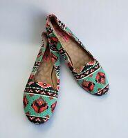 Betsey Johnson Shoes Flats Multi-Color Ballet Flats Brritney Womens Size 8.5 M