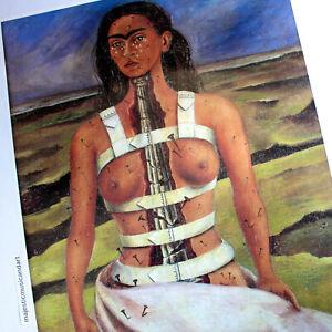 FRIDA KAHLO NUDE SELF PORTRAIT ORIGINAL 1998 LARGE EXHIBITION POSTER