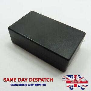 Plastic 72.5x42.5x23mm Electrical Junction Storage Case Box Enclosure PVC Black