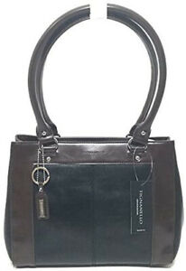 NWT Tignanello Framed Satchel Black/Dark Brown T57020A MSRP: $169.00