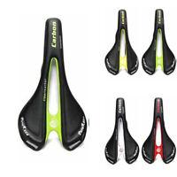 Carbon Leather Bicycle Racing Seat Saddle MTB Road Bike Soft Comfort Cushion