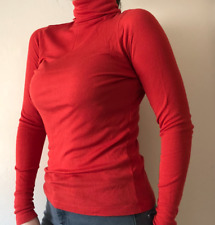 Jaeger Women's Coral Red Turtleneck Size M