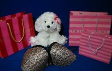 Victoria's Secret Animal Print Push Up Bra Size 36D, Gift Bags & Molly Plush Dog