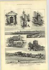 1889 Some Lovely Sketches Round About Deal Kent Obock Entrance To Red Sea