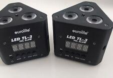2 mal EUROLITE LED TL-3 TCL 3x3 W