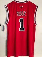 Adidas NBA Jersey Chicago Bulls Derrick Rose Red sz L