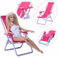 1:6 Scale Dollhouse Furniture Swim Foldable Deckchair Accessor QW