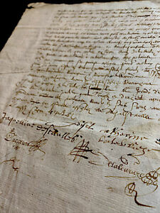 AUTOGRAPHED CONTRACT DOCUMENT ca 1600s