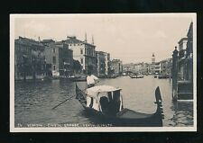 Italy Venice VENEZIA Canal Grande Verzo Rialto c1910/20s? RP PPC
