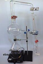 Essential Oil Steam Distillation Kit Graham Condense  & Water Pump , Stove