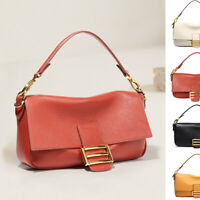 3 Straps Small Mini Real Leather Shoulder Bag Crossbody Flap Baguette Top Handle