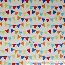 BonEful Fabric Cotton Quilt White Red Blue Baby Boy Happy Birthday US Flag SCRAP