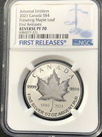 2021 Canada $4 Pulsating Maple Leaf NGC Reverse Proof PF70 First Releases