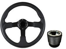 F2 BLACK Sports Steering Wheel + Boss Kit for VW T4 1996 - 2003 045