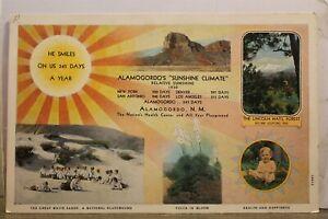 New Mexico NM Alamogordo Sunshine Climate Postcard Old Vintage Card View Post PC