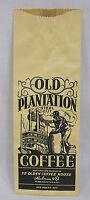 Vintage Old Plantation Coffee Bag Black Americana Steamboat Imagery Unused
