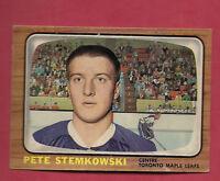 1966-67 OPC  # 15 LEAFS PETE STEMKOWSKI  CARD