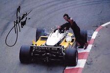 RENE ARNOUX firmato F1 EQUIPE-RENAULT RE30B, MONACO GRAND PRIX 1982