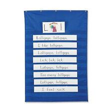 "Pacon Standard Pocket Chart for Sentence Strips, 34"" x 50"", Blue (20010)"