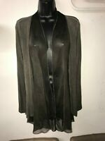 NEW COLLECTION PART SILK GREY JACKET STYLE TOP SIZE M/L