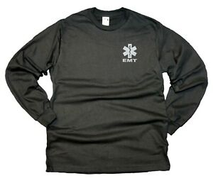 EMT Cotton Long Sleeve t Shirts with Reflective Decoration on Both Front and Bac
