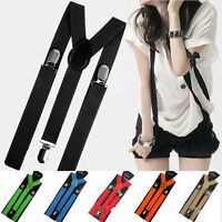 EG_ Unisex Elastic Y-Shape Braces Mens Womens Adjustable Clip-on Suspenders Fine