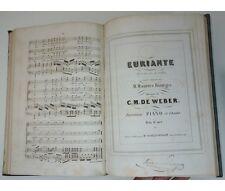 C. M. de WEBER Oberon - Euriante opéra Partition piano et chant Ed. Schlesinger