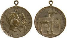 Medaglia Vittorio Emanuele II° Umberto I° Roma Porta Pia #D767