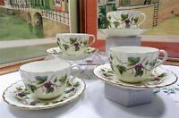 "SET OF 4 ROYAL WORCESTER BACCHANAL #Z2822 GRAPES & VINE 2 1/2"" CUPS & SAUCERS"