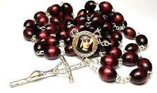 Cherry chain Rosary 3rd class relic Saint Faustina Kowalska mystic visionary