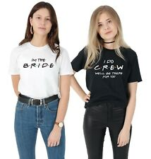 Friends Wedding T-shirt Shirt Set Hen Do Bachelorette Party Gift I Do Crew Bride
