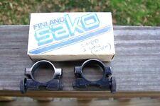 """1"""" SAKO Rifle Scope Rings *Low* Steel Vintage Finland NOS"""