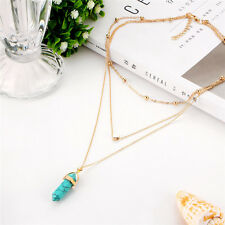 Women Alloy Choker Bib Statement Pendant Chain Collar Necklace Charm Jewelry