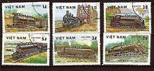 67T3 VIET NAM  6 Timbres obliteres: Locomatives à vapeur