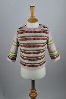 RRP£45 Girls Irish Wool Cashmere Fairisle Jumper Sweater.Child Age 2-4,24 months