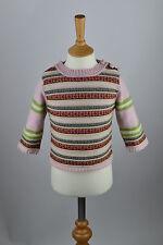 Rrp £ 45 filles laine cachemire irlandais Fairisle pull sweater.child Âge 2-4,24 MOIS
