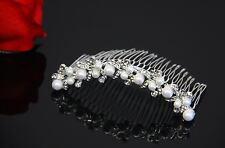 Stunning Swarovski Crystal and Pearl Bridal Comb