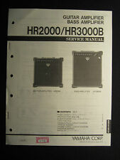 Yamaha Guitar Amplifier HR2000 Bass HR3000B Service Manual Schematics Parts List